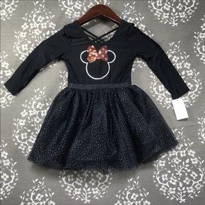 Minnie 4T small snag black tutu Xmas dress holiday